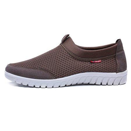 Hommes De Grande Taille Respirant Glissement Résistant Chaussures De Sport Occasionnels WDfKBz4k