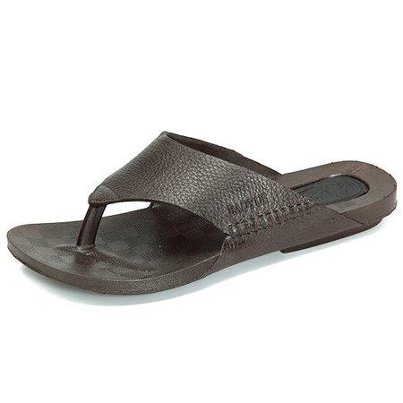 Men Clip Toe Non-slip Breathable Beach Slippers