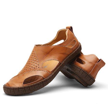 Men Flat Heel Hollow-out Casual Sandals