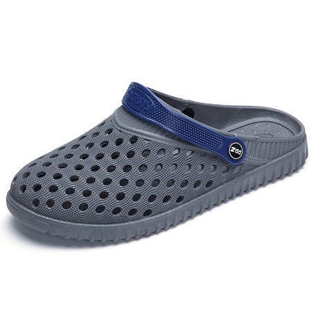 Men Hollow Out Breathable Flat Slip On Beach Sandals