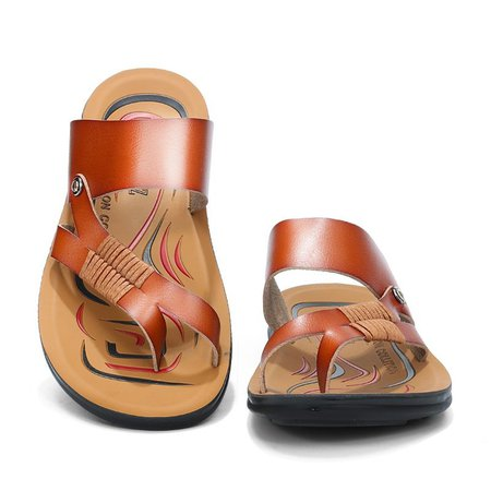 Brown Spring/Fall Artificial Leather Seaside Sandal