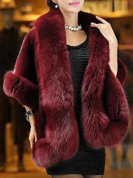 Women's Cloak Cape Solid Color Top Fashion Slim Cape Coat