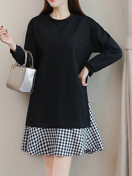 Casual Checkered/Plaid Dress