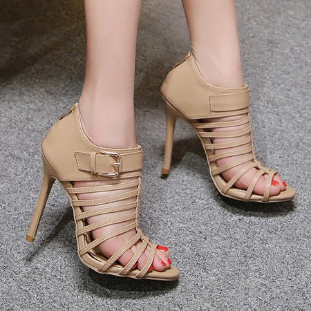 Buckle Thin High-heeled Gladiator Sandals Sexy Pumps