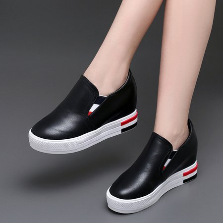 Casual Daily PU Increased Within Shoes Wedges