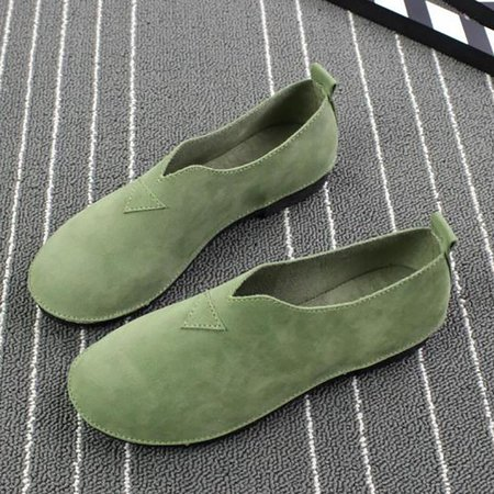 Slip On Casual Flocking Round Toe Loafers