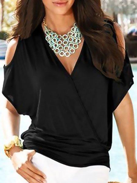 Women Stylish Cold Shoulder T-Shirts