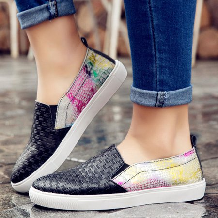 Casual Leather Slip On Daily Loafers