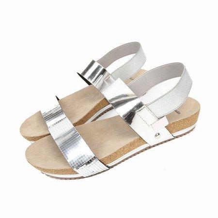 Elastic Band Summer Flat Heel Patent Leather Sandals