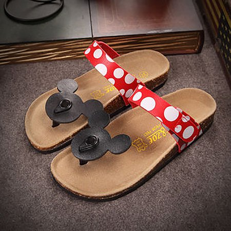 Birkenstock like Mickey Minnie Mouse Slippers