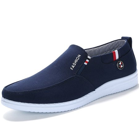 Men Canvas Breathable Flat Slip On Casual Shoes