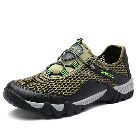 Men Mesh Fabric Breathable Upstream Shoes Outdoor Sneakers