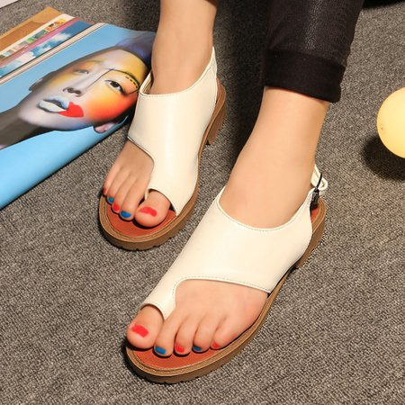 Adjustable Buckle PU Casual Sandals