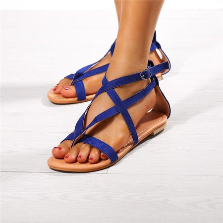 Flip-flops Buckle Flocking Sandals
