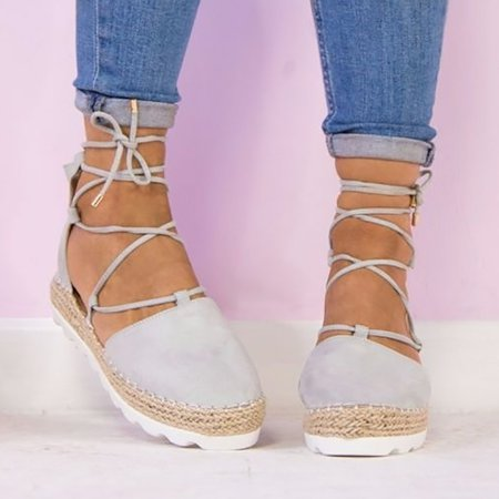 Fashion Flats Ankle Strap Sandals Bandage Shoes