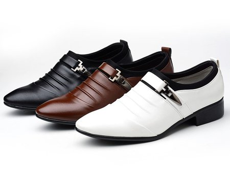 Flat Heel Buckle Artificial Leather Winter Office & Career Formal Shoes