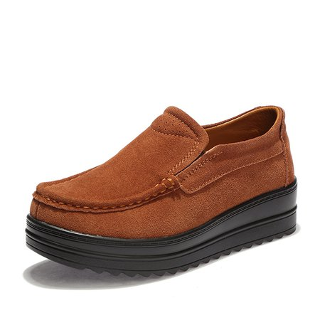Women Suede Platform Casual Loafers