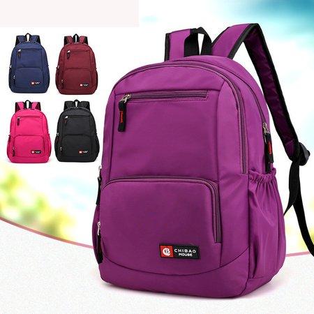 Casual Nylon Waterproof Large Capacity Students Bags Backpack
