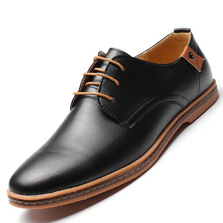 Flat Heel All Season Lace-up Rubber Formal Shoes