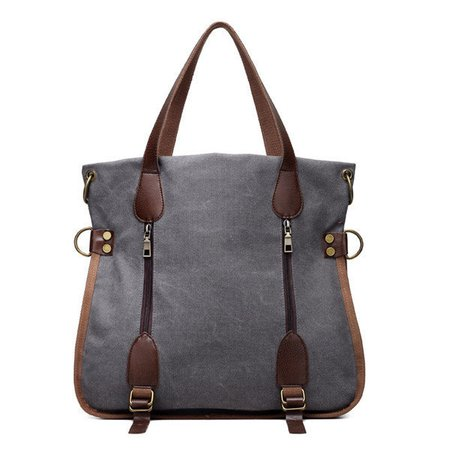 Women High Capacity Durable Canvas Vintage Handbag Crossbody Bag