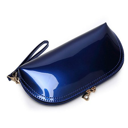 Women Waterproof PVC Cosmetic Purse Toiletry Bag Casual Bright Clutches Bag