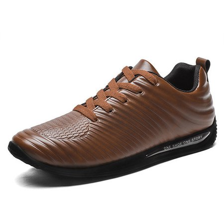 Men Stripe Microfiber Leather Comfy Driving Casual Shoes