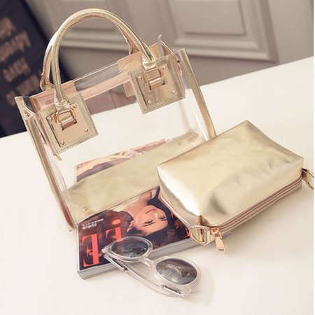 Waterproof Transparent Crystal Fashion Designer Style Crossbody Hangbags