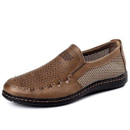 Men Mesh Breathable Slip On Shoes