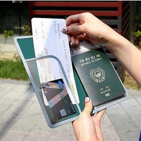 Women Men Outdoor Boarding Must-have Travel Passport Bag Clutches Wallet