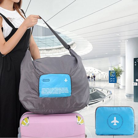 Women Light Waterproof Foldable Boarding High Capacity Outdoor Travel Luggage Bag