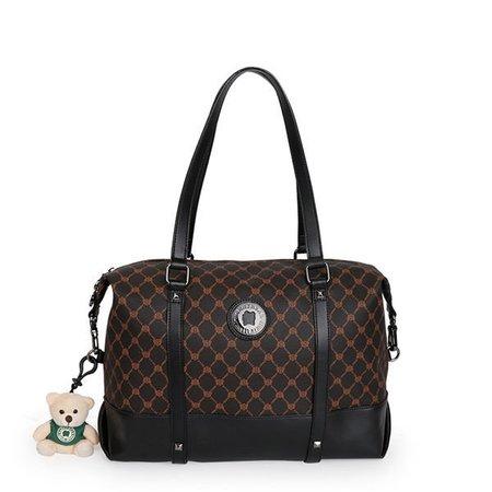 Stylish Boston Grid Pattern Handbag Shoulder Bags Crossbody Bags