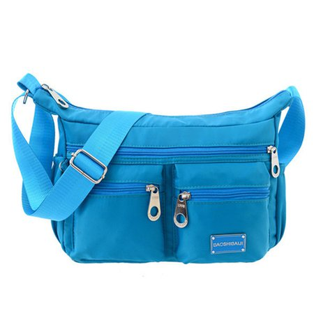 Ladies Oxford Nylon Long Strap Crossbody Bag Leisure Travel Bag
