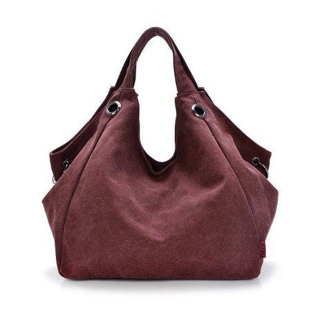 Women Canvas Casual Hobo Large Capcity Crossbody Shoulder Bag