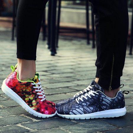 Hommes Et Femmes Amateurs Chaussures Camouflage Mode Chaussures De Sport Casual Lacer Les Chaussures De Course aXhBU5s0QI