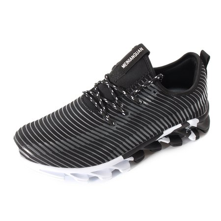Men Textile Breathable Light Weight Running Walking Shoes