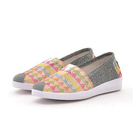 Pink Slip-On Mesh Women Fashion Sneakers