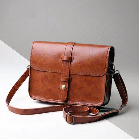 Retro PU Leather Portable Phone Purse Messenger Crossbody Bags