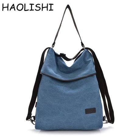 Women Brand HAOLISHI Leisure Durable Canvas Shoulder Crossbody Bag Outdoor Backpack