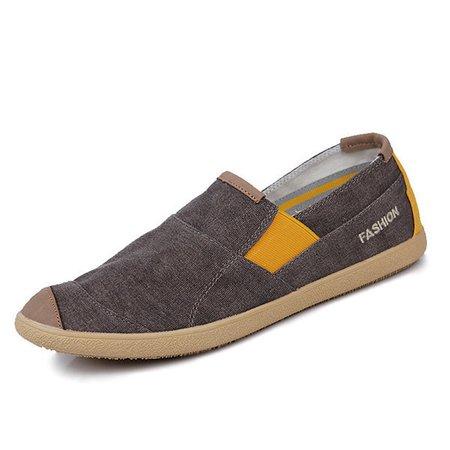 Canvas Low-top Minimalist Design Casual Shoes For Men