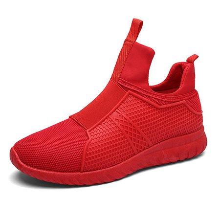 Men's High Top Breathable Walking Shoes Soft Sport Athietic Shoes