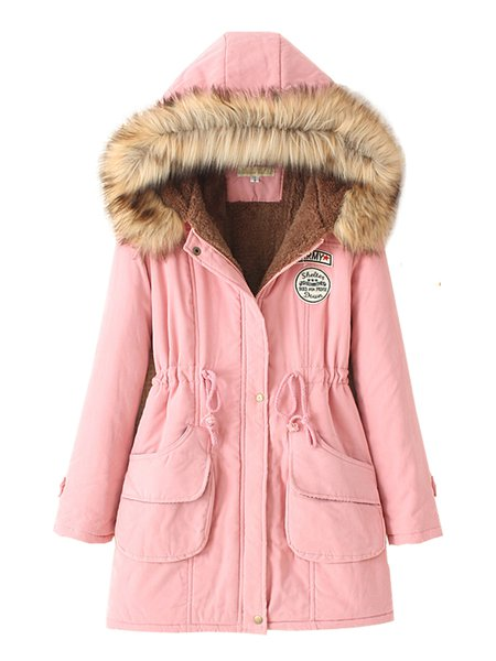Women's Quilted Coat Thicken Warmth Hooded Slim Coat