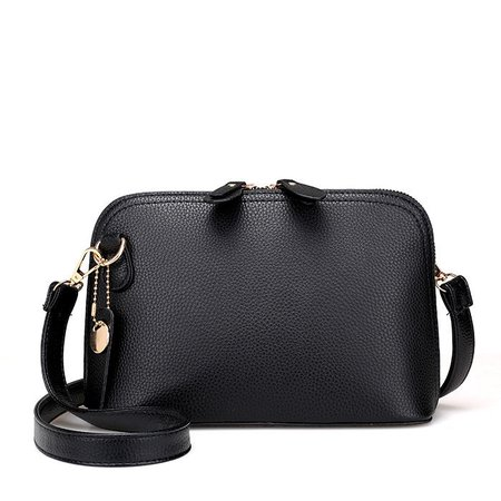 Women PU Leather High-end Shell Shape Elegant Multi Pockets Crossbody Bag