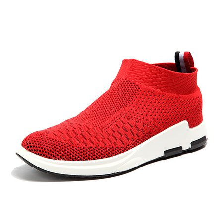 Men Flyknit Mesh Fabric Breathable Sock Trainers Sport Sneakers