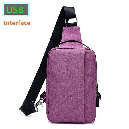 USB-Anschluss Nylon Light Chest Bag High Capacity Crossbody Bags For Women