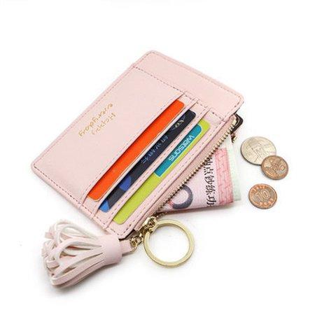 Stylish Cute Tassel Casual Card Holder Coins Bag Portable Purse