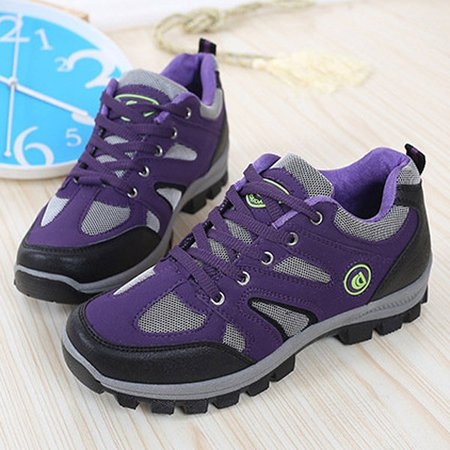 Color Blocking Breathable Sport Outdoor Lace Up Trainers