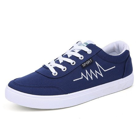 Flat Heel Lace-up Men's Casual Shoes