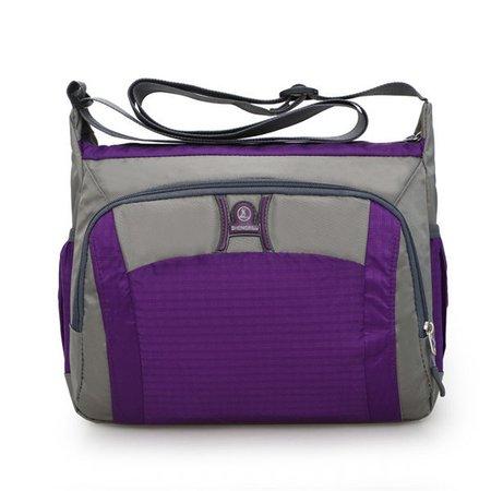 Casual Waterproof Nylon Light Patchwork Crossbody Bag For Women
