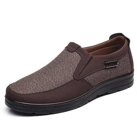Men Fabric Splicing Casual Shoes