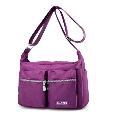Women Nylon Light Multi Pockets Waterproof  Messenger Crossbody Bags